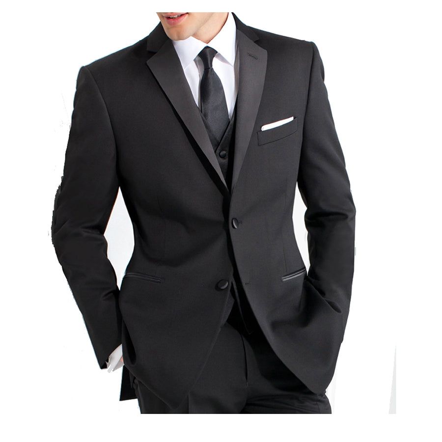 Classic Black Tailor-Made 2 Button Formal Or Business Suit