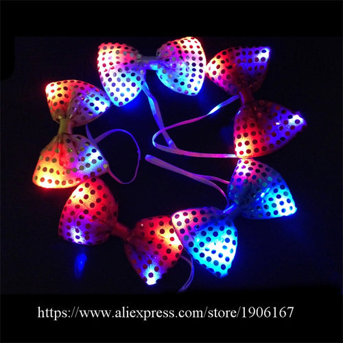 Colorful Glowing LED Party Tie