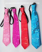 Load image into Gallery viewer, Colorful LED Sparkly Elasticated Sequin Flashing Neck Tie