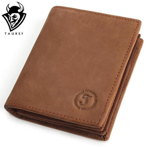 Crazy Horse Handmade Genuine Leather Cowhide Wallet- Multi-functional