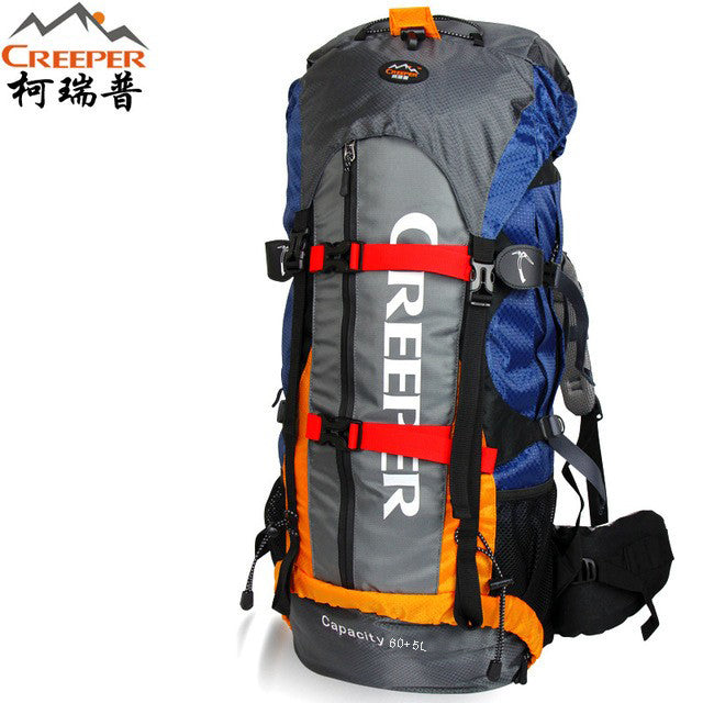 65L Waterproof Climbing, Camping, Hiking & Mountaineering Pack w/ Bladder Bag
