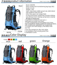 Load image into Gallery viewer, 60L Pro Waterproof Climbing/Hiking/Camping Rucksack
