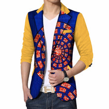 Load image into Gallery viewer, Mens Custom Made African Print Dashiki Blazer