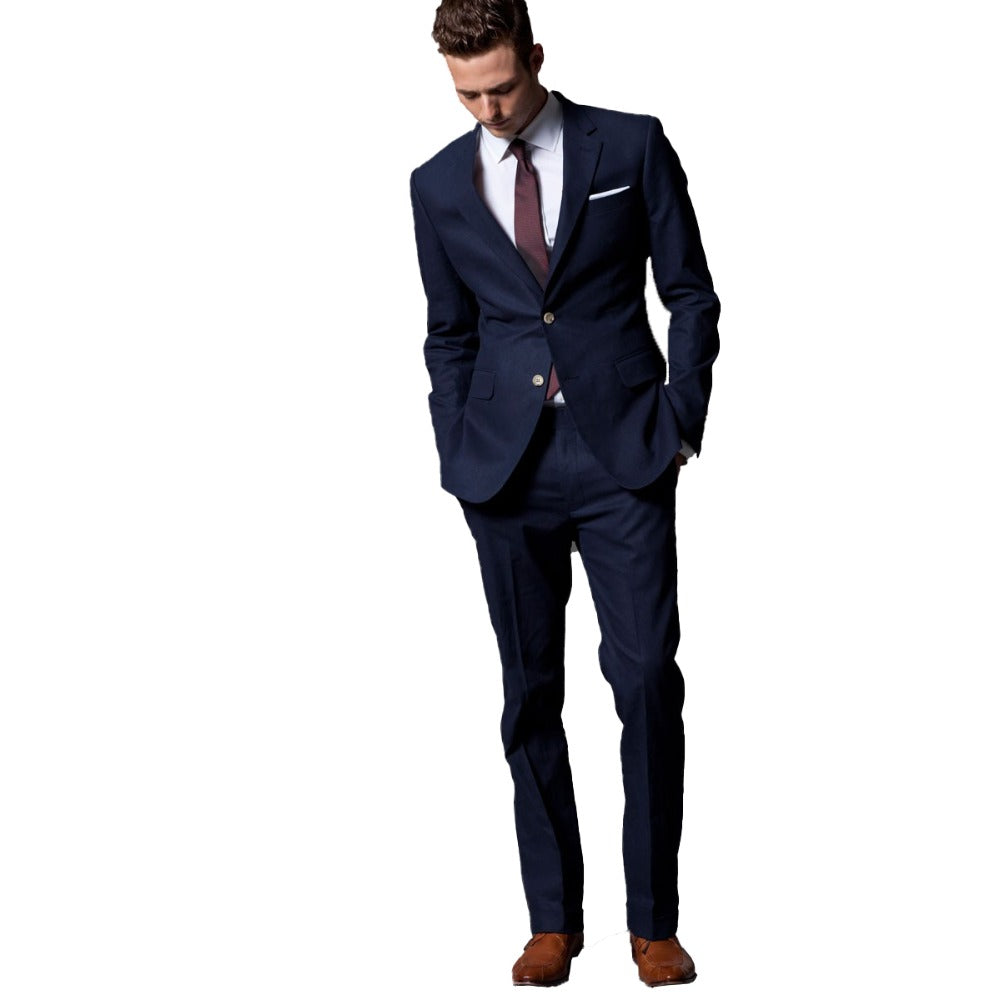 78e94a6a5964 Load image into Gallery viewer, Custom Made Light Navy Blue Slim Fit Formal  Tuxedo ...
