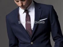 Load image into Gallery viewer, Custom Made Light Navy Blue Slim Fit Formal Tuxedo