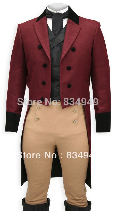Custom Made Burgundy Vintage Wine Red Double-Breasted Long Tail Tuxedo