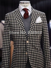 Load image into Gallery viewer, Custom Made 4-Piece Classilack White Checkered Tuxedo