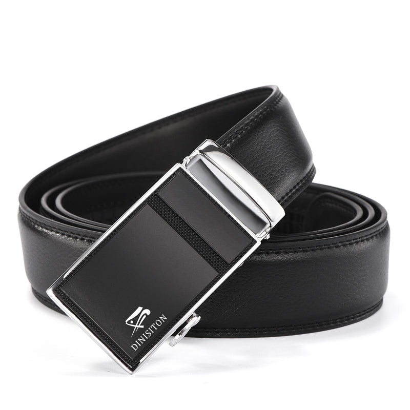 Designer Belts For Men-Metal Automatic Buckle- Strap Luxury Genuine Leather
