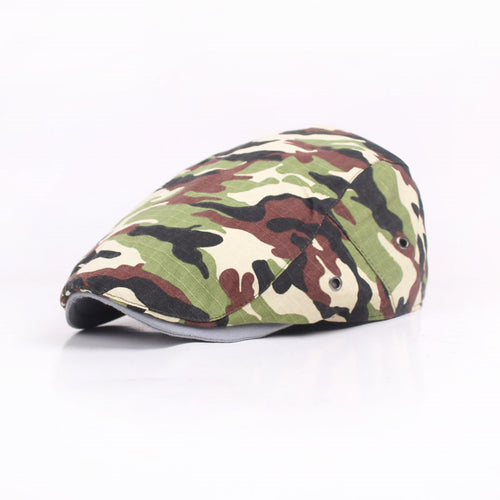 Mens Camo Style Fitted Duckbill Herringbone*