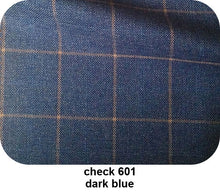 Load image into Gallery viewer, Dark Blue Checkered Tailor-Made Formal Gingham Tuxedo