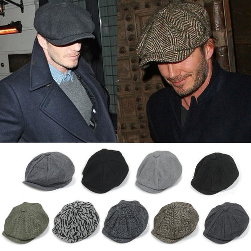 David Beckham Inspired Octagonal Newsboy Beret*