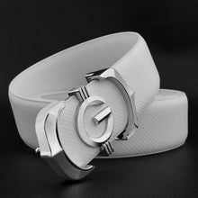 Load image into Gallery viewer, High Quality Genuine Leather Cowskin Belt w/ Gold/Silver G Buckle*