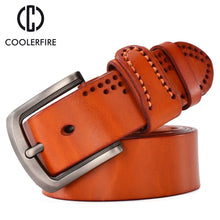 Load image into Gallery viewer, Vintage Full Grain Genuine Leather Cowboy Style Belt