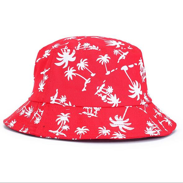 DEXING Palm Tree Print Hunting, Fishing And Beach Bucket hat