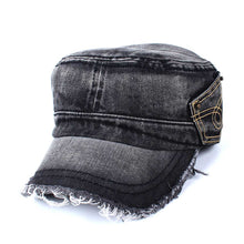Load image into Gallery viewer, DIFANNI New Snapback Denim Flat Military Hat