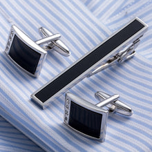 Load image into Gallery viewer, Simulated Pearl  Cufflink And Tie Pin Set