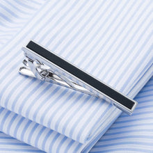 Load image into Gallery viewer, Square Pattern Freshwater Pearl Necktie Clip And Cufflink Set