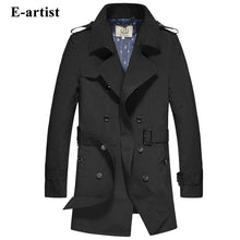 Load image into Gallery viewer, Classic Slim Fit Double-Breasted British Style Trench Coat