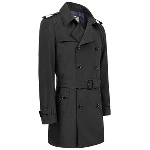 Classic Slim Fit Double-Breasted British Style Trench Coat