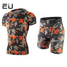 Load image into Gallery viewer, Mens Elastic Breathable Camo Print Compression Suits*