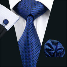 Load image into Gallery viewer, Mens Geometric Silk Formal Neck Tie Set*
