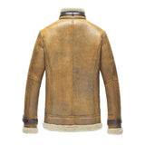 Men's Leather Jacket-Casual Slim  Coat for men
