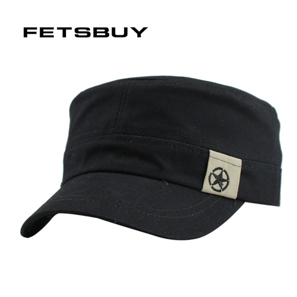 FETSBUY Vintage Adjustable Fit Military Hat
