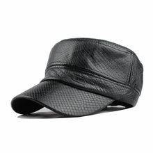 Load image into Gallery viewer, FETSBUY Vintage Leather Snake Pattern Military Hat