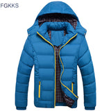 Thick Detachable Hood Winter Parka