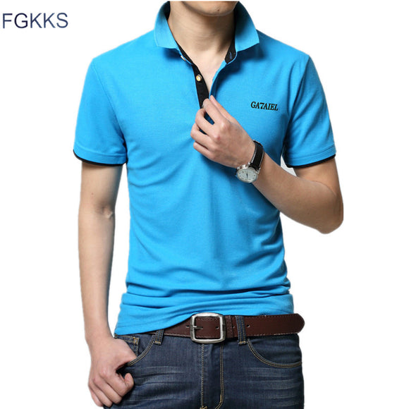 Mens Short Sleeve Slim Fit Casual Polo
