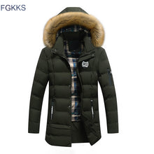 Load image into Gallery viewer, Thick High Collar Parka w/Detachable Hat