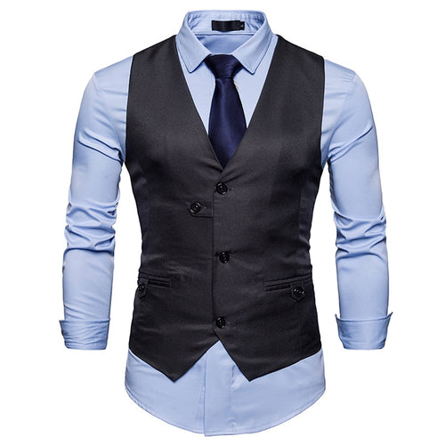 FGKKS Solid Color Formal Slim Fit Waistcoat* (S-2XL)