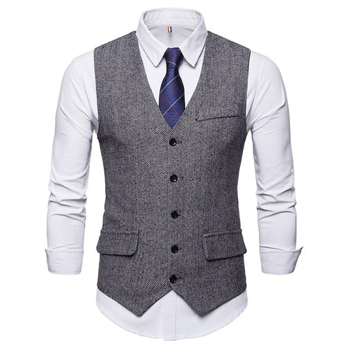 FGKKS Slim Fit solid Color Formal Broadcloth Pattern Waistcoat* (S-2XL)