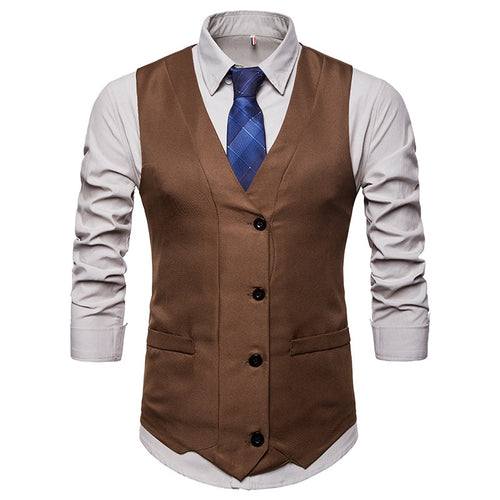 FGKKS Slim Fit All-Season Vintage Business Waistcoat* (S-2XL)