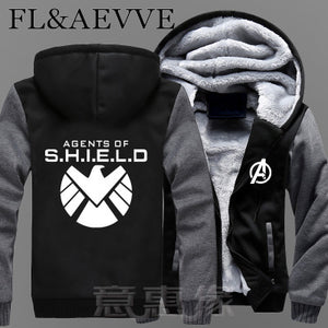 "Mens New ""Agents Of Shield"" Avengers Thick Zip Up Hoodie* (M-5XL)"