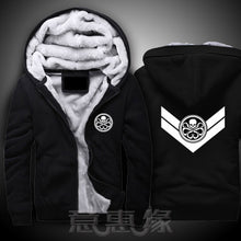 "Load image into Gallery viewer, Mens New ""Agents Of Shield"" Avengers Thick Zip Up Hoodie* (M-5XL)"