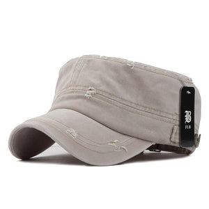 FLB Classic Adjustable Solid Color Flat Top Military Hat