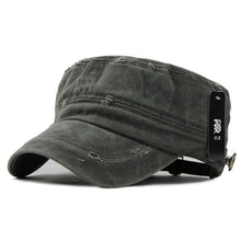 Load image into Gallery viewer, FLB Classic Adjustable Solid Color Flat Top Military Hat