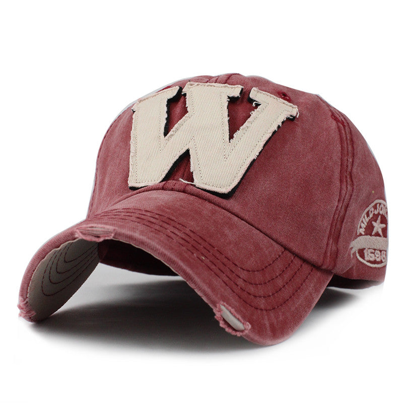 "NEW EMBROIDERED LETTER ""W"" FITTED BASEBALL CAP"