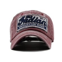 Load image into Gallery viewer, WASHED DENIM VINTAGE LETTER PRINT BASEBALL CAP