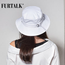 Load image into Gallery viewer, FURTALK Solid Pattern Cotton Letter Print Bucket Hat*