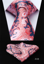 Load image into Gallery viewer, Mens Classic Silk Paisley Print Neck Tie Set
