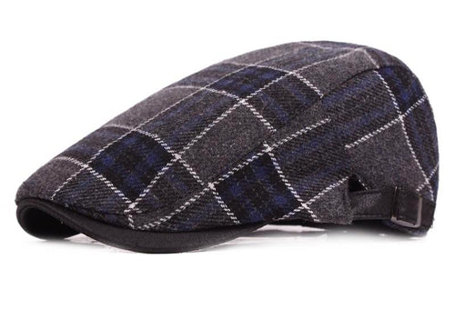 Mens Retro Cotton Plaid Duckbill Herringbone*