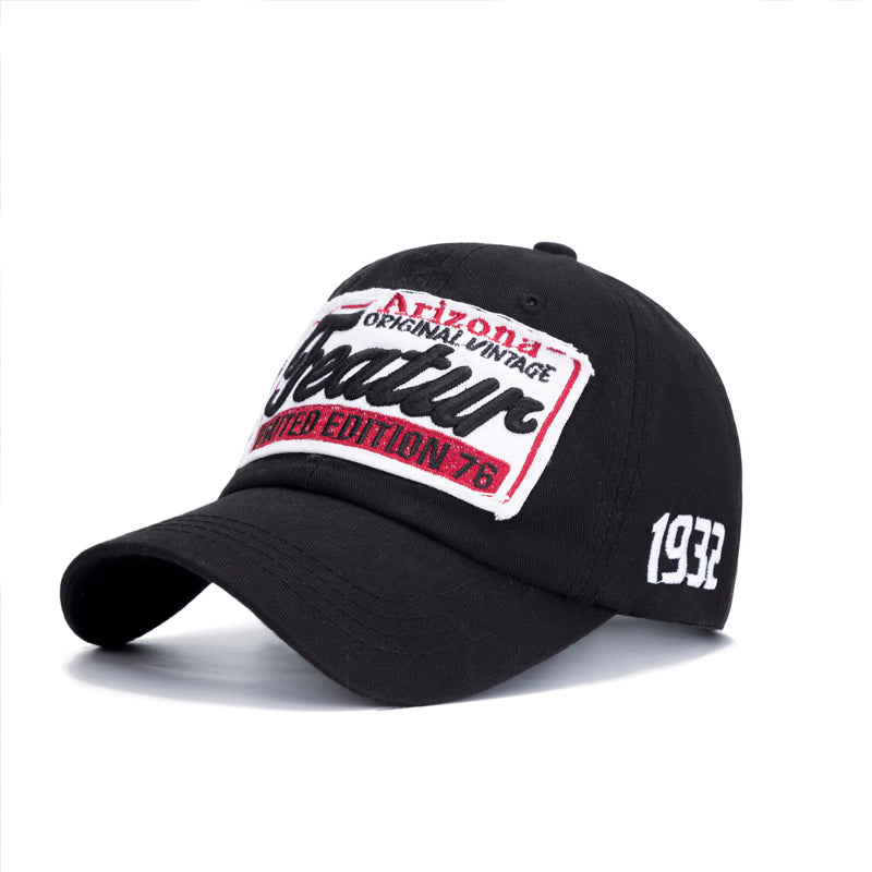Mens Letter Print Adjustable Baseball Snapback