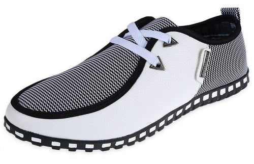 Mens Lace Up Slip-On Italian Loafers