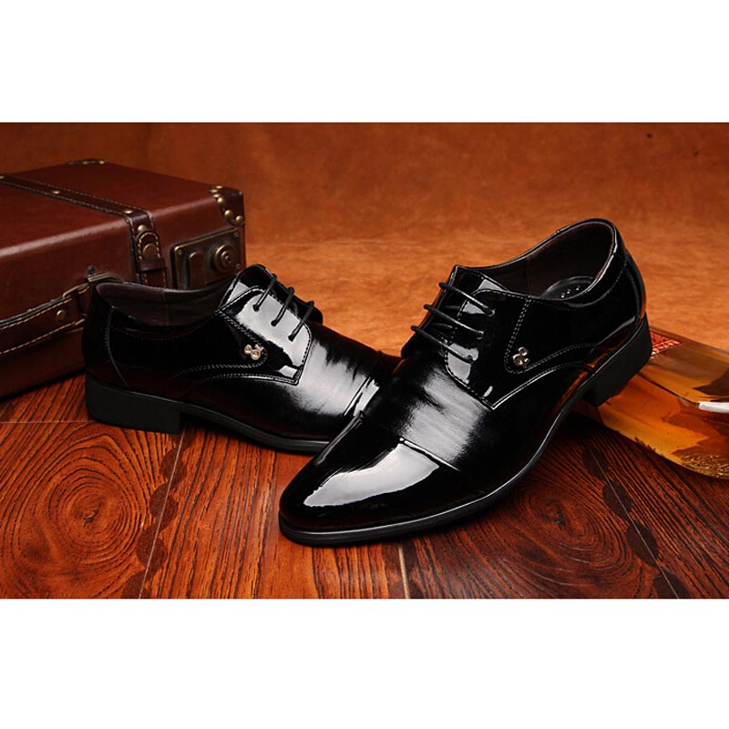 Mens Genuine Leather Casual Lace Up Oxfords