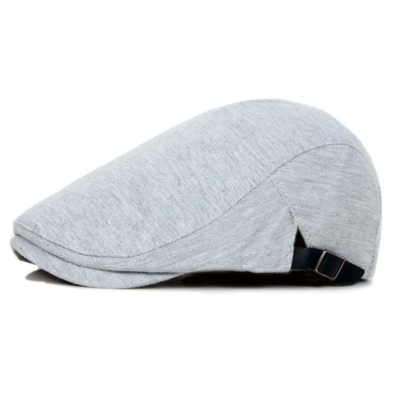 Solid Newsboy Duckbill Hat- Cotton Adjustable Golf Paperboy Gatsby