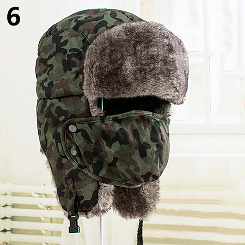 Mens Warm Trapper Ear Ushanka Bomber Hat