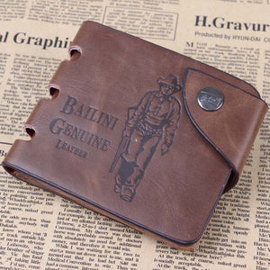 Designer Men's Wallets - Classic Hasp Casual Brown ID Credit Card Holders