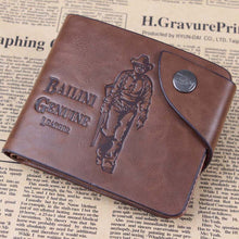 Load image into Gallery viewer, Designer Men's Wallets - Classic Hasp Casual Brown ID Credit Card Holders